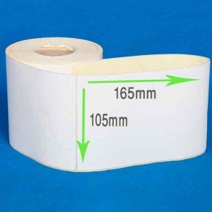 لیبل پشت چسبدار کاغذی سایز 105 × 165