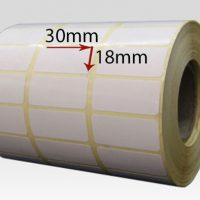 برچسب کاغذی سایز ۳۰ × ۱۸