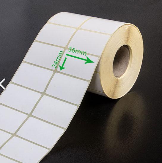 بر چسب کاغذی سایز ۳۶ × ۲۴