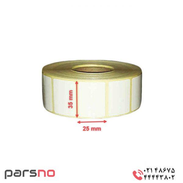 لیبل حرارتی سایز ۳۵ × ۲۵