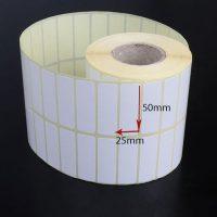 برچسب کاغذی سایز ۵۰ × ۲۵