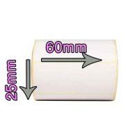 لیبل حرارتی سایز ۶۰ × ۲۵