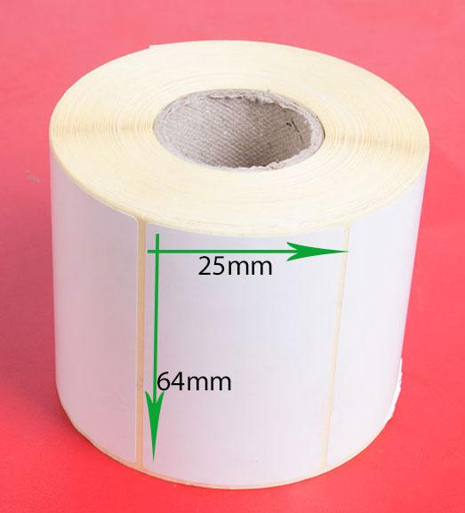 لیبل کاغذی سایز ۶۴ × ۲۵