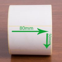 بر چسب کاغذی سایز ۸۰ × ۵۰