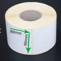 بر چسب کاغذی سایز ۹۰ × ۹۰