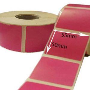 لیبل سرخ آّبی رنگ سایز ۵۰ × ۵۵ میلی متر