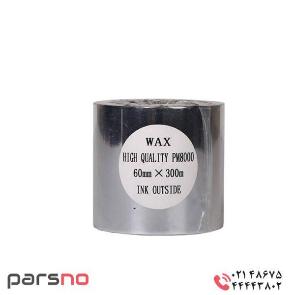 ریبون وکس رزین ۶۰ × ۳۰۰ پرینتر برچسب