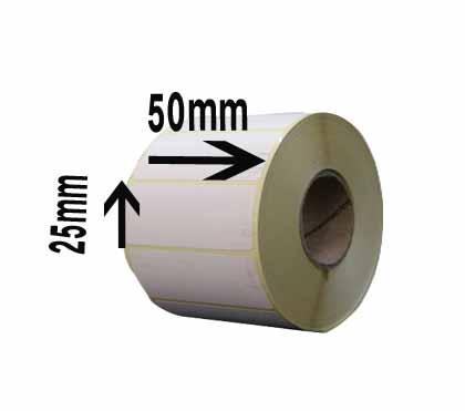 لیبل کاغذی تک ردیفه سایز ۲۵ × ۵۰