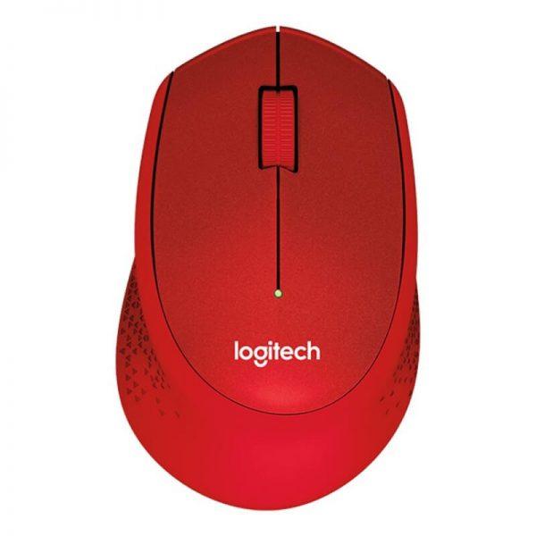 عکس موس بی سیم لاجیتک مدل M330 بی صدا در رنگ قرمز