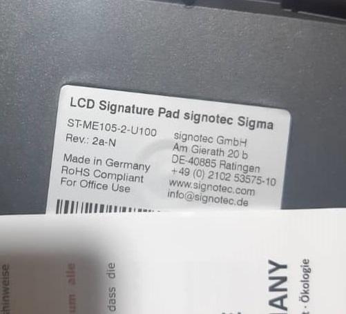 پد امضا سازگار با نرم افزار قوه قضایی ساخت آلمان برند سیگنوتک