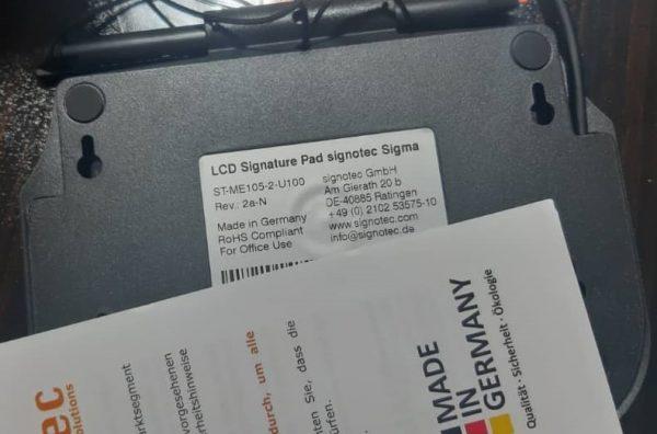 پدامضا سیگنوتک 105 سازگار با نرم افزار قوه قضاییه
