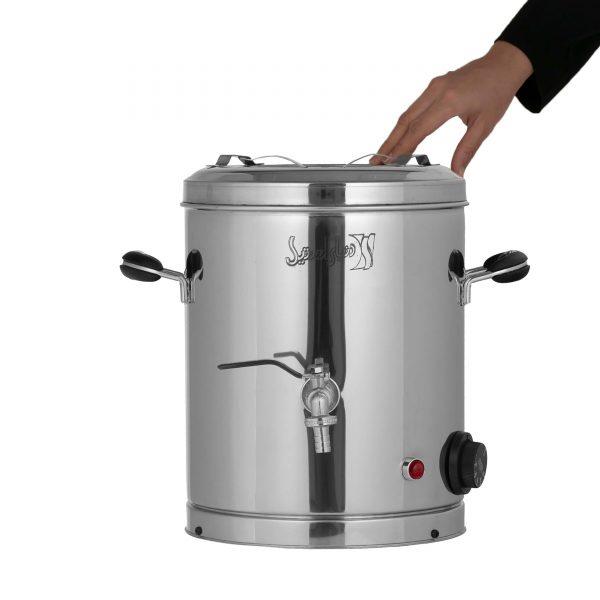 سماور ۱۰ لیتری با شیر برنجی