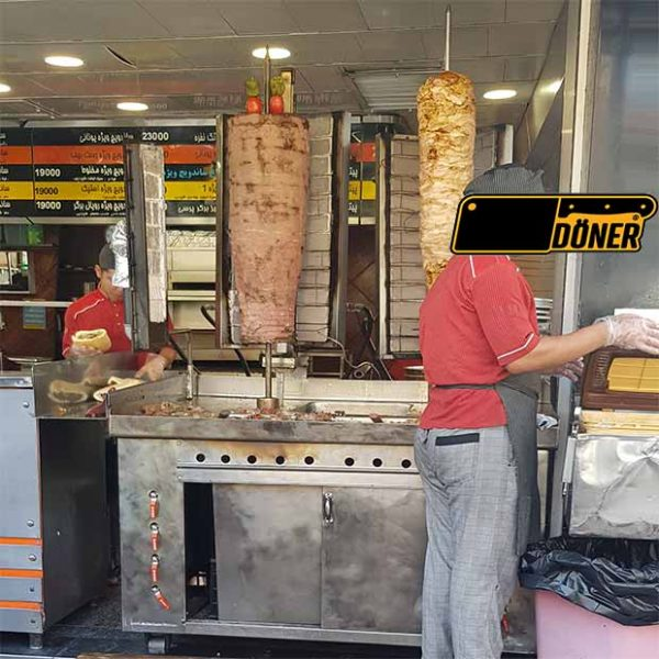 کباب پز ترکی دو سیخ ایستاده
