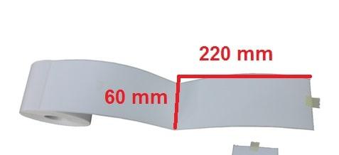 برچسب کاغذی 60 × 220