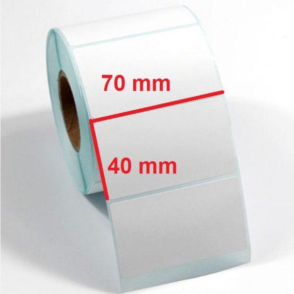 برچسب کاغذی 40 × 70