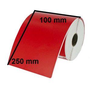 لیبل کاغذی قرمز 100 × 250