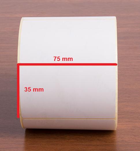 لیبل کاغذی 35 × 75