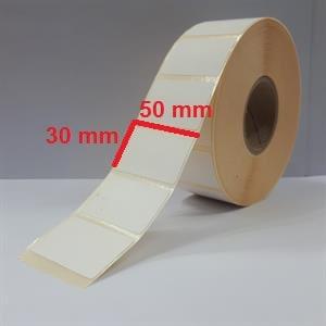 برچسب کاغذی 30 × 50