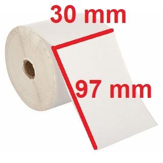 برچسب کاغذی 30 × 97