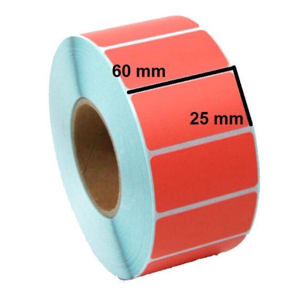 لیبل پی وی سی نارنجی 25 × 60