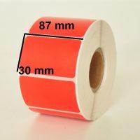 لیبل pvc نارنجی 30 × 87