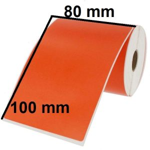 برچسب PVC نارنجی 100 × 80