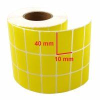 لیبل کاغذی زرد 10 × 40
