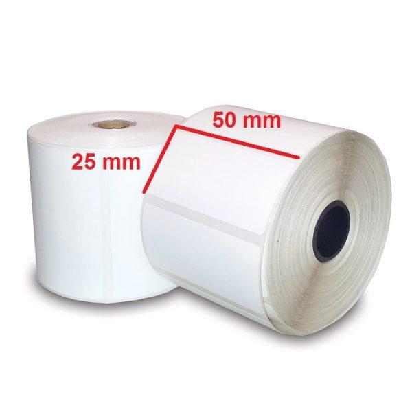 لیبل حرارتی کم چسب ۲۵ × ۵۰