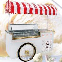 تاپینگ بستنی چرخدار کالسکه ای