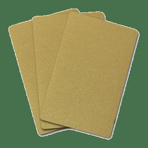 کارت خام pvc ساده طلایی