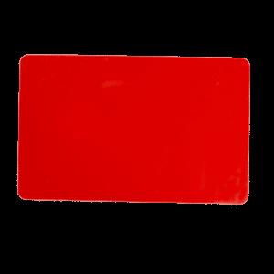 کارت خام pvc ساده قرمز