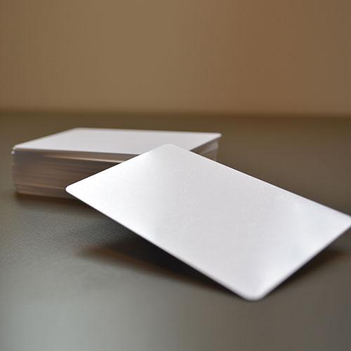 کارت خام pvc سفید اروپایی