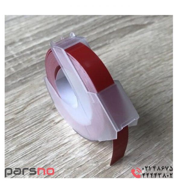 لیبل دایمو پلاستیک برجسته قرمز