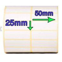 لیبل PVC 25 × 50 دو ردیفه